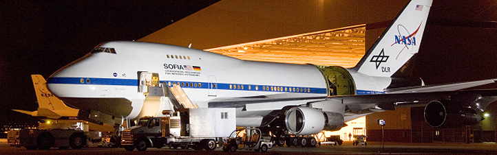 SOFIA: Ready for take off – und zwar sogar mit Lehrern an Bord. Bild: NASA
