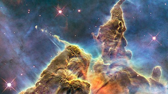Solche kosmischen Gas- und Staubwolken sind die Geburtsstätten für neue Sterne. Bild: NASA, ESA