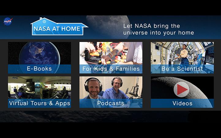 Auch die NASA hat eine Webseite für Zuhause eingerichtet.