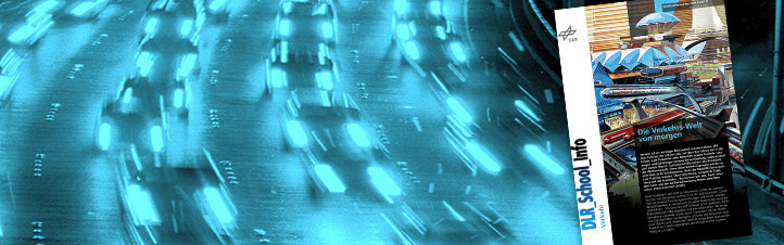 """Robo-Autos, die durch die Stadt fahren, Autos, die mit der Straße """"sprechen"""" und Leitsysteme, die Staus vermeiden – die neue Ausgabe der DLR_School_Info stellt dir einige dieser spannenden Projekte vor: Forschungsarbeiten, die oftmals viel mit unserem Alltag zu tun haben. Bild: DLR"""