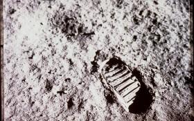 Der Stiefelabdruck von Buzz Aldrin auf dem Mond. Bild: NASA