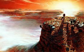 Menschen auf dem Mars – was könnte dort passieren? Hier ein Bild, das Zeichner der NASA angefertigt haben. Bild: NASA