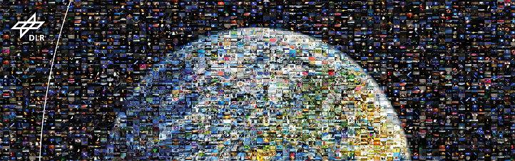 """Das Mosaik """"Bild der Erde"""