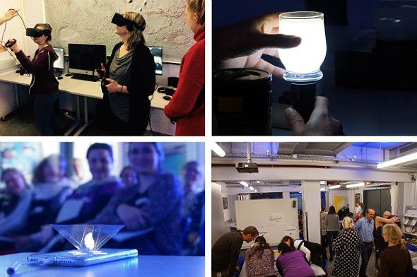 Lehrer-Workshop im DLR_School_Lab Berlin: Leuchtende Milch, Experimente mit dem Smartphone und ein virtueller Spacewalk waren nur einige der vielen Highlights.