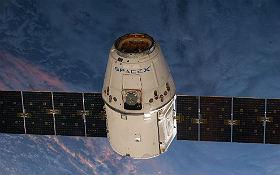 Dragon-Raumtransporter. Bild: NASA