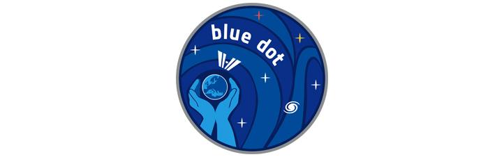 """Das Logo zur Mission """"Blue Dot"""". Bild: ESA"""