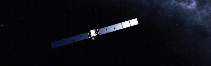 Rosetta in den Tiefen des Sonnensystems. Bild: DLR (CC-BY 3.0)