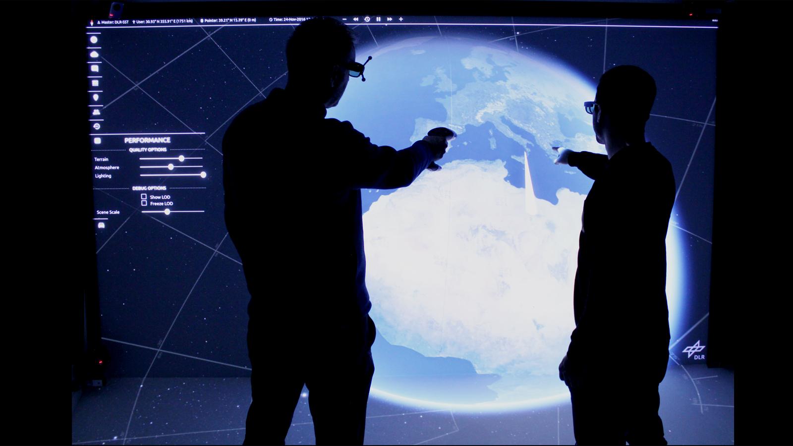 Virtual Reality gehört in der Erdbeobachtung und auch bei der Erforschung anderer Himmelskörper längst zum Alltag der Forscher. Bild: DLR