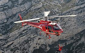 Bei der Bergrettung ist nicht immer so gutes Wetter wie auf diesem Bild. Bild: Eurocopter