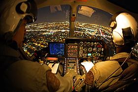 Die Hubschrauber-Piloten werden bei ihrer schwierigen Arbeit von Computertechnik unterstützt. Bild: Eurocopter