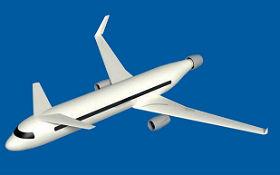 Bei diesem Konzept für ein neues Flugzeug, das vom DLR mit Partnern aus Frankreich und den Niederlanden erarbeitet wird, sieht man am Heck eine Düse. Sie soll die Luft so ansaugen, dass die Strömung ganz eng an der Außenseite des Fliegers entlang führt. Bild: DLR