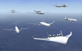 Die Flugzeuge der Zukunft sollen sparsamer, leiser und komfortabler sein. Bild: Airbus