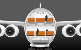 Der A380 hat zwei durchgängige Passagierdecks – daher können über 800 Fluggäste  mitfliegen. Bild: DLR