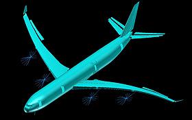 Die Flugzeuge müssen stabil sein, aber nicht starr. Dies wird in der Aeroelastik errechnet. Bild: DLR