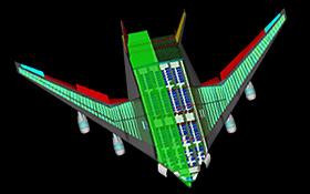 Konzept eines künftigen Flugzeug-Typs. <BR>Bild: DLR