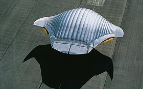 Fliegen mit aufgeblasenem Flügel.<BR>Bild: prospective concepts