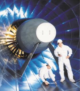 Der riesige Ventilator beschleunigt die Luft auf rund 1,3 Mach. Bild: ETW