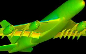 """Ein Flugzeug entsteht am Computer – Fachleute nennen das """"numerische Simulation"""". Bild: DLR"""