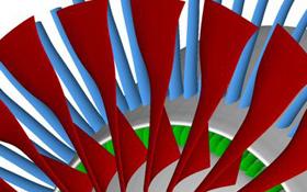 Ein neuer langsam drehender Fan soll das Triebwerk in Zukunft leiser und gleichzeitig stärker machen. Bild: DLR