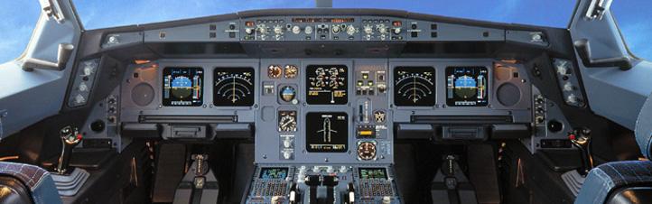 Das Cockpit ist der Arbeitsplatz der Piloten. Hier siehst du das Cockpit eines Airbus A330. Bild: Airbus