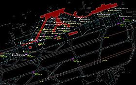 Mit speziellen Computerprogrammen lässt sich jedes Detail des virtuellen Flughafens darstellen. Bild: AT-One, DLR