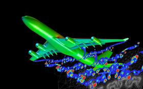 Die Entstehung von Wirbelschleppen wird auch mit Computern untersucht. Bild: DLR