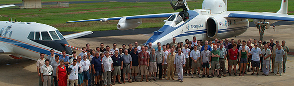 Gruppenbild nach dem letzten Messflug. Bild: DLR