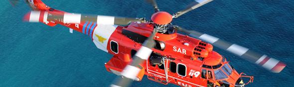 Ein Hubschrauber der Seenotrettung auf dem Weg zu einem Einsatz. Bild: Eurocopter