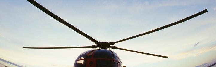Die typischen Rotorblätter eines Hubschraubers: Wenn sie sich drehen, entsteht der nötige Auftrieb. Bild: Photos.com