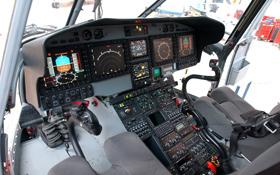 """Der """"Arbeitsplatz"""" eines Hubschrauber-Piloten. Bild: Eurocopter"""