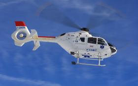 """Wenn ein Hubschrauber fliegt, ist das nicht zu überhören: Das typische Knattern entsteht beim """"Durchschneiden"""" der Luftwirbel durch die Rotorblätter. <BR>Bild: Eurocopter"""