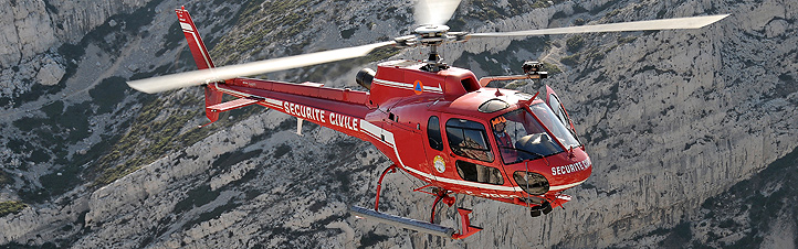 """Hubschrauber haben viele Vorteile: Sie können in der Luft """"stehen"""" und benötigen kaum Platz zum Landen. Daher sind sie zum Beispiel bei Rettungseinsätzen aus der Luft unverzichtbar. Bild: Eurocopter"""