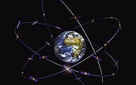 Ein ganzes System von Navigationssatelliten ist nötig, um weltweit eine optimale Navigation zu gewährleisten. Bild: ESA (J. Huart)