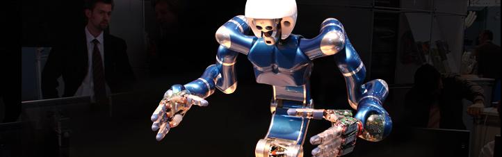 """JUSTIN – ein Roboter mit """"Fingerspitzengefühl"""".Bild: DLR"""