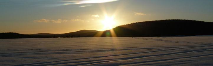 Verschneite Winterlandschaft in Kiruna, dem Startplatz im Norden Schwedens.Bild: DLR