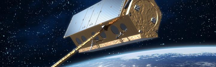 Der deutsche Radarsatellit TerraSAR-X umrundet die Erde in einer Höhe von 514 Kilometern.Bild: Astrium GmbH