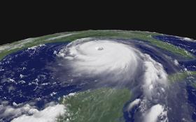 Ein Wirbelsturm nähert sich der amerikanischen Küste. Bild: NOAA