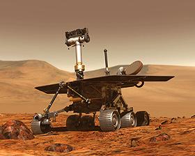 Einer der beiden Mars-Rover in künstlerischer Darstellung. Bild: NASA