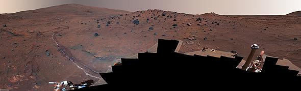 Ein Foto, das aus vielen einzelnen Bildern zusammengesetzt wurde. Bild: NASA, JPL, Cornell