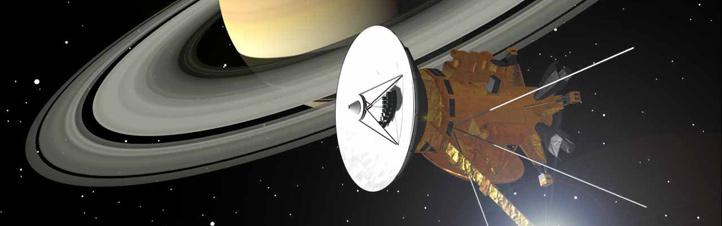 Die Doppelsonde Cassini/Huygens am Saturn. Bild: ESA, NASA