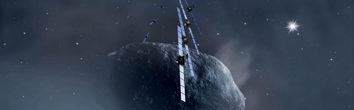 Künstlerische Darstellung der Rosetta-Mission. Bild: ESA, AOES Medialab