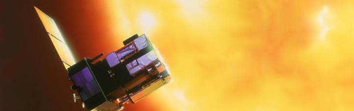 Die Sonnen-Sonde SOHO. Bild: NASA, ESA