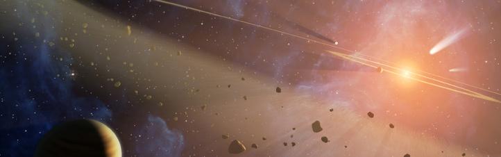 Der Asteroidengürtel (künstlerische Darstellung). Bild: NASA, JPL, Caltech