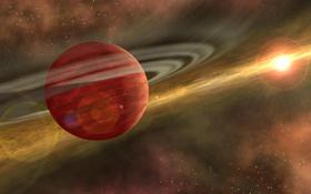 So kann man sich die Entstehung des Sonnensystems vorstellen: In einer Wolke aus Staub und Gas bilden sich die Sonne und die Planeten. Bild: NASA, JPL, Caltech