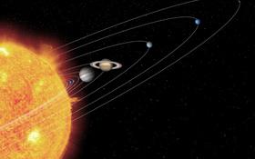 Bei dieser künstlerischen Darstellung des Sonnensystems entsprechen die Größenverhältnisse der Himmelskörper ungefähr den wirklichen Proportionen. Nur die Abstände sind in der Realität natürlich viel größer: Millionen und Milliarden von Kilometern liegen zwischen den Planeten. Bild: NASA, JPL, Caltech, T. Pyle (SSC)