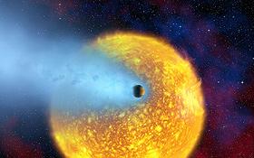 Künstlerische Darstellung: So stellt man sich Planeten vor, die andere Sonnen umkreisen. Bild: NASA, ESA (A. Vidal-Madjar, Institut d'Astrophysique de Paris, CNRS)