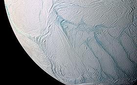 Die eisige Oberfläche von Enceladus.<BR> Bild: NASA, JPL, Space Science Institute