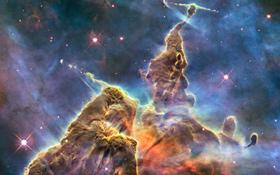 Eine Region in unserer Milchstraße, in der gerade unzählige neue Sterne entstehen. Bild: NASA, ESA, STScI