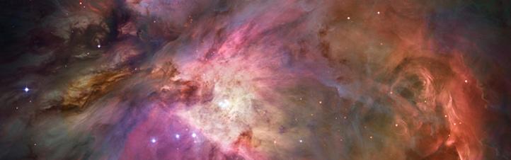Wie ist das Universum entstanden? Heute meinen die meisten Wissenschaftler: Alles begann vor 13,8 Milliarden Jahren mit dem Urknall. Fotografiert hat das damals natürlich niemand. Diese Aufnahme zeigt den Orionnebel – eine Region in unserer Galaxie, der Milchstraße. Bild: NASA, ESA, STScI