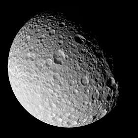 Der Saturnmond Mimas, aufgenommen von der Raumsonde Cassini. Bild: NASA/JPL/Space Science Institute